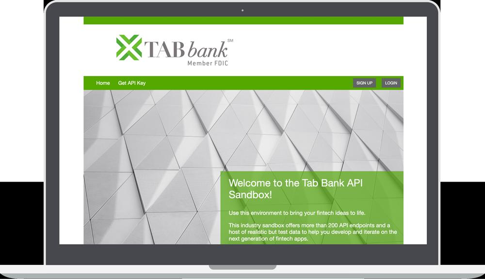 TAB Bank API Sandbox page